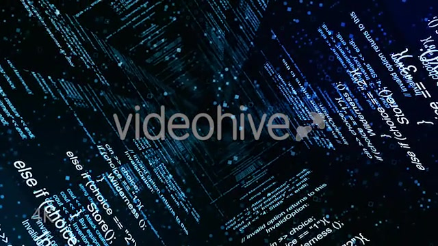 Abstract Blue Coding Wall - Download Videohive 20728412