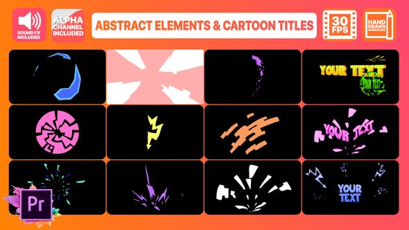 Abstract Shapes And Cartoon Titles | Premiere Pro MOGRT - Videohive 24743565 Download