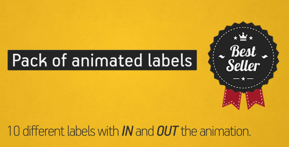 Animated Labels Pack - Download Videohive 4412248