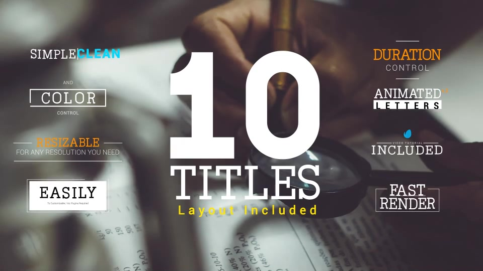 Animated Letters & 10 Titles Layout 2 - Download Videohive 19528794