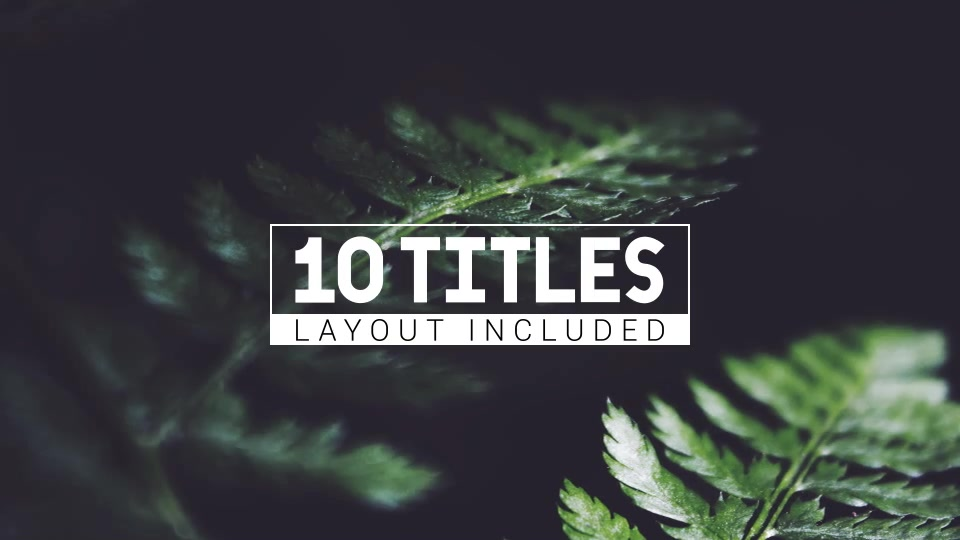 Animated Letters & 10 Titles Layout - Download Videohive 19413127