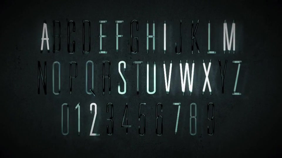 Animated Lightbulb Typeface - Download Videohive 18398522