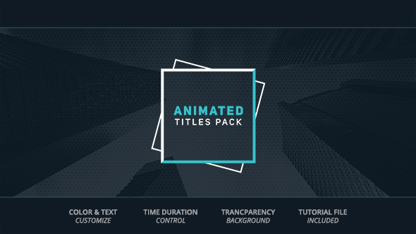 Animated Titles - Download Videohive 19326670