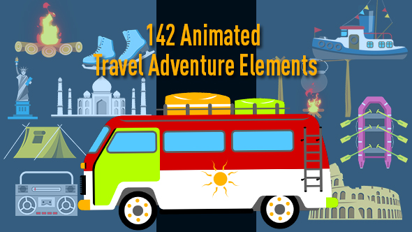 Animated Travel Adventure Elements - Download Videohive 17316384
