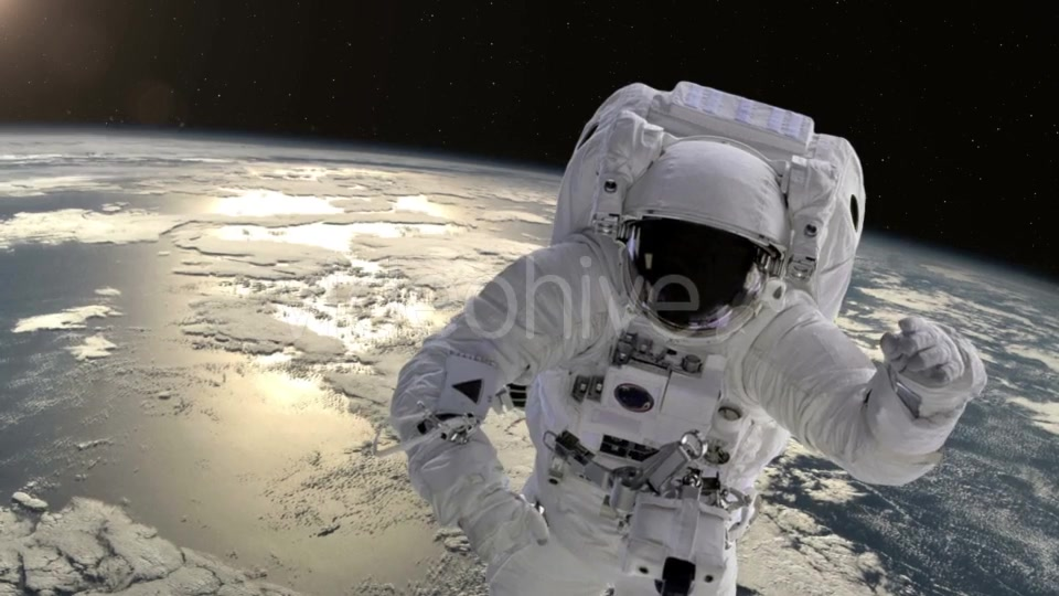Astronaut Above the Earth - Download Videohive 21359301