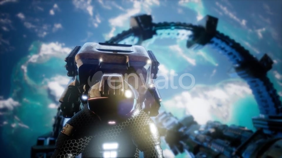 Astronaut and International Space Station - Download Videohive 21843679