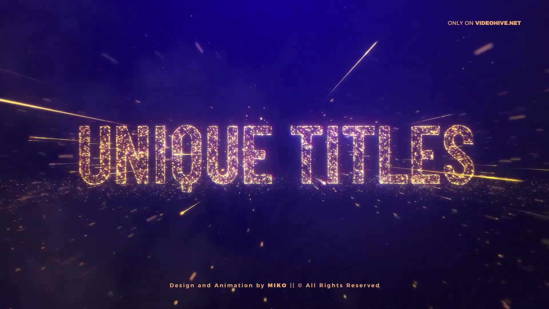 Awards Gold Particles Titles Videohive 24513891 After Effects Image 1