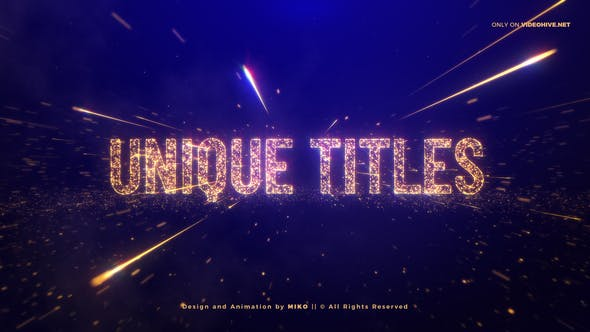 Awards Gold Particles Titles - 24513891 Download Videohive