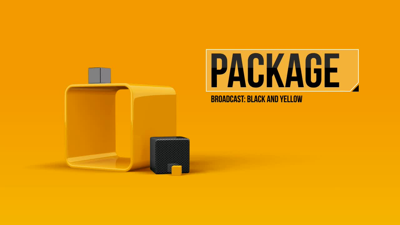 Black And Yellow Broadcast Package - Download Videohive 6367734