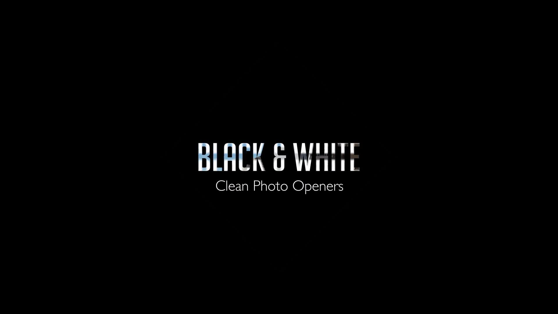 Black & White Clean Photo Openers - Download Videohive 11909529