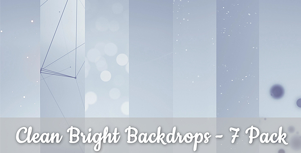 Bright Backgrounds 7 Pack - Download Videohive 13637094