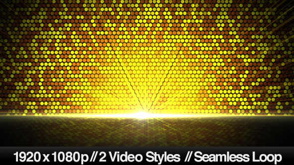 Bright Golden Circles Reflected Below Background - Download Videohive 5384687
