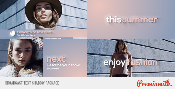 Broadcast Text Shadow Package - Download Videohive 10648578