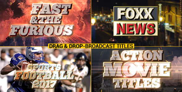 Broadcast Title Pack - Download Videohive 17549412