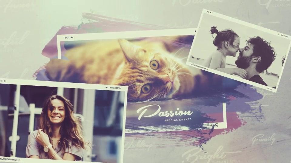 brush strokes frame slideshow free download