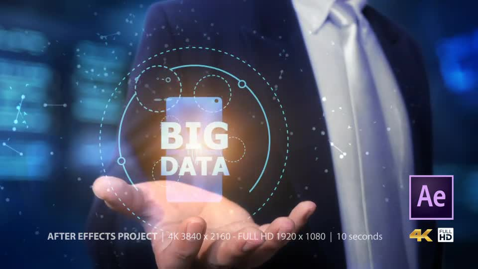 Businessman Open Hand Big Data Videohive 24982264 After Effects Image 1