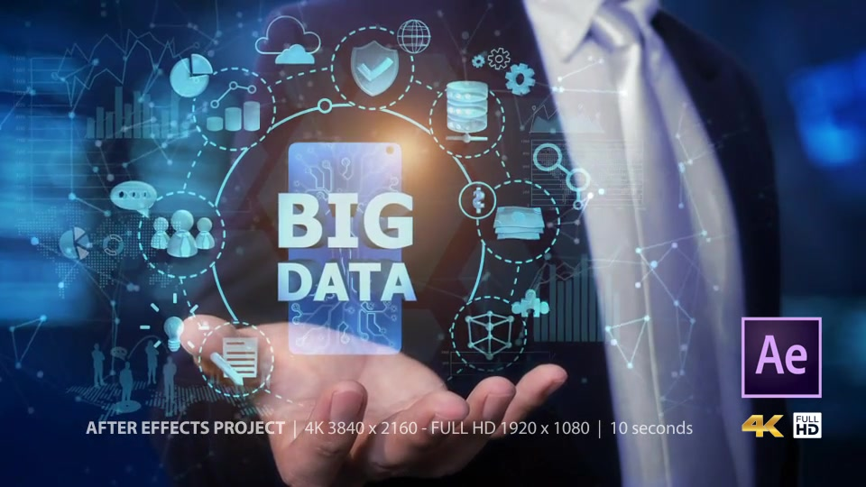 Businessman Open Hand Big Data Videohive 24982264 After Effects Image 3