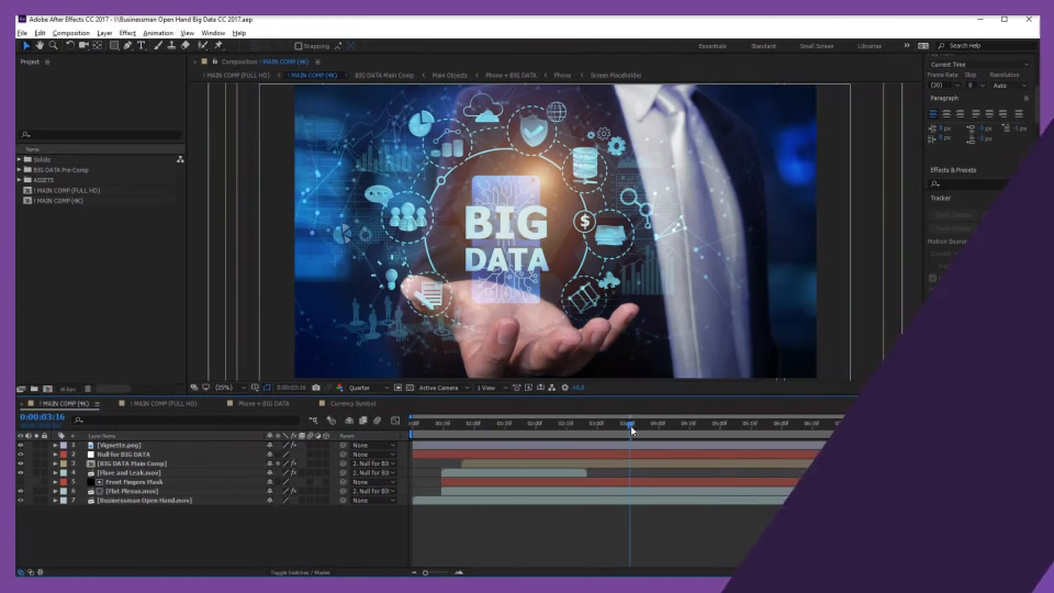Businessman Open Hand Big Data Videohive 24982264 After Effects Image 4