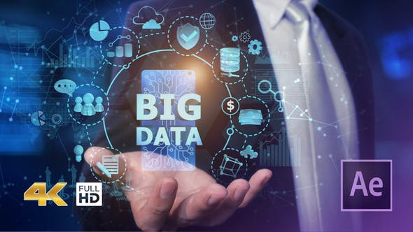 Businessman Open Hand Big Data - Videohive Download 24982264