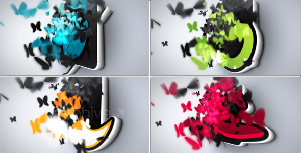 Butterflies Logo Reveal - Download Videohive 3282067