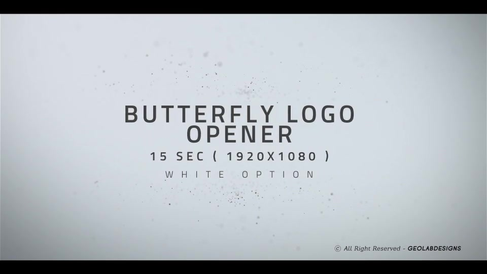 Butterfly Logo Opener l Elegant Logo Opener l Flipping Wings Logo Opener Videohive 25587488 After Effects Image 8