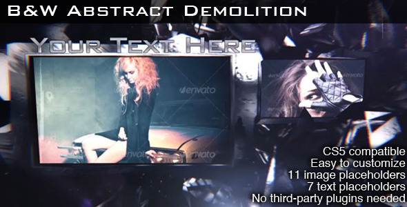 B&W Abstract Demolition - Download Videohive 3239575