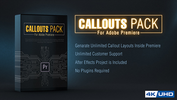 Callout Line Pack For Premiere - Download Videohive 21108932