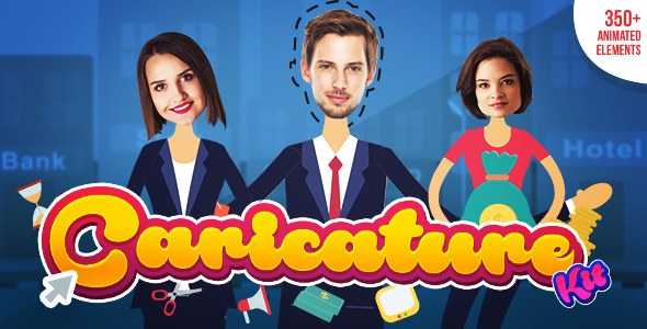 Caricature Toolkit | Face Cut Out | Explainer video toolkit - Download Videohive 19264969