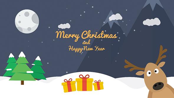 Cartoon Christmas Postcard 02 - Download Videohive 13854427