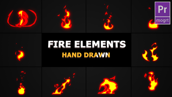 Cartoon Fire Elements - Download Videohive 22684947