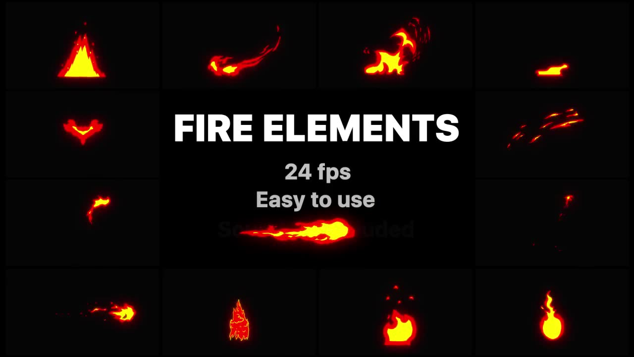 Cartoon Fire Elements | Final Cut Videohive 23706308 Apple Motion Image 2