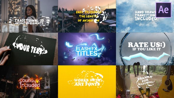 Cartoon Lyric Titles| After Effects Template - Download 23650906 Videohive