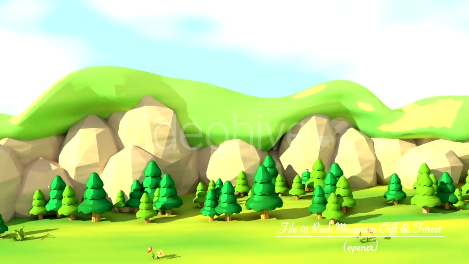 Cartoon Mountain Cliff And Forest - Download Videohive 16768387