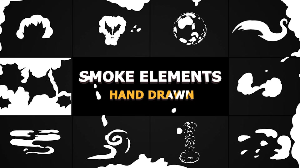 Cartoon SMOKE Elements And Transitions - Download Videohive 21241950