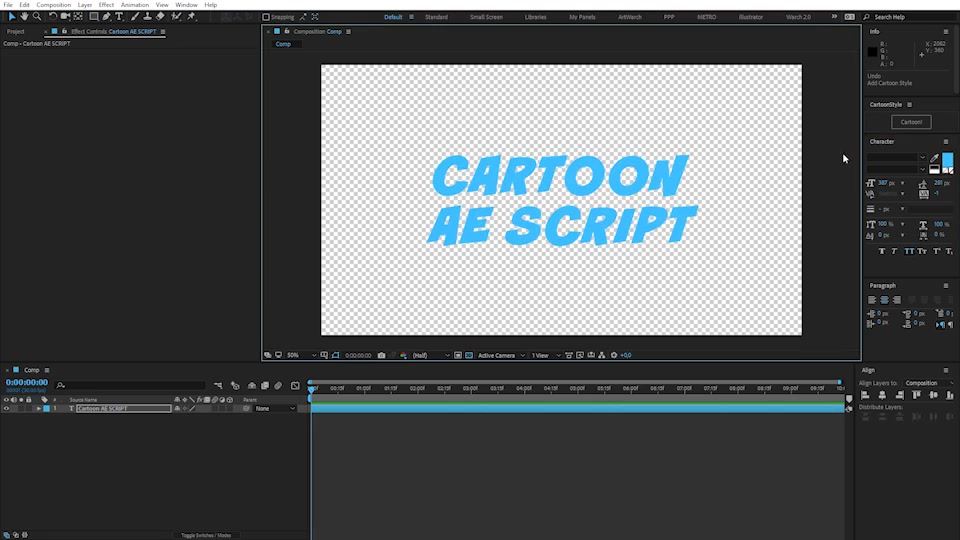 Cartoon Style | After Effects Script - Download Videohive 21140791