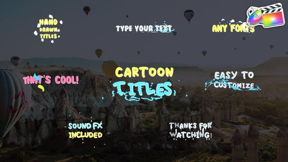 Cartoon Titles | FCPX - 30605952 Videohive Download