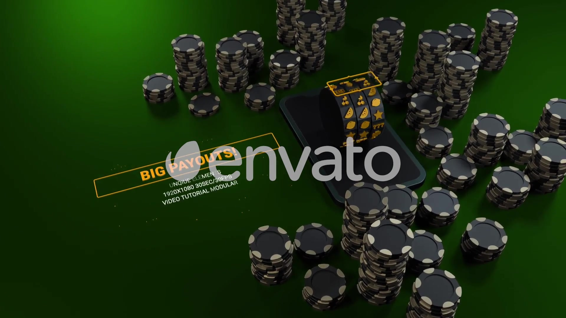 Casino Online Games App/ Poker Champions/ Online Roulette Intro/ Slot Machine/ Money Win/ Smartphone Videohive 25885554 After Effects Image 7