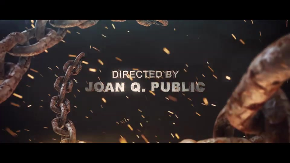 Chains Element 3D Title Sequence - Download Videohive 5680389