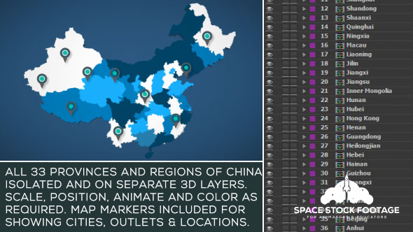 China Map Kit - Download Videohive 17854136