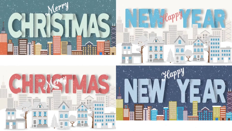 Christmas and New Year Text with Logo Reveal - Download Videohive 20983385