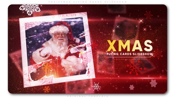 Christmas Flying Cards Slideshow - Download Videohive 22783786