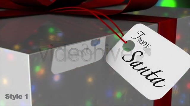 Christmas Gift Tag / Card From Santa 2 Styles - Download Videohive 981197