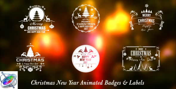 Christmas New Year Badges Apple Motion - Download Videohive