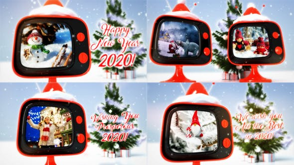 Christmas retro TV - 806774 Videohive Download