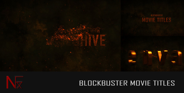Cinematic Blockbuster Movie Titles - Download Videohive 5564099