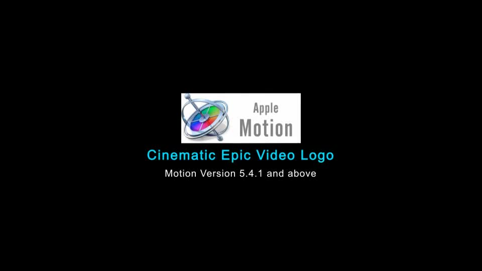 Cinematic Epic Video Logo Apple Motion - Download Videohive 22663395