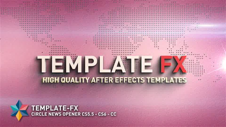 Circle News Opener - Download Videohive 8372425