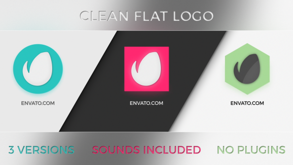 Clean Flat Logo 3 in 1 - Download Videohive 19372545