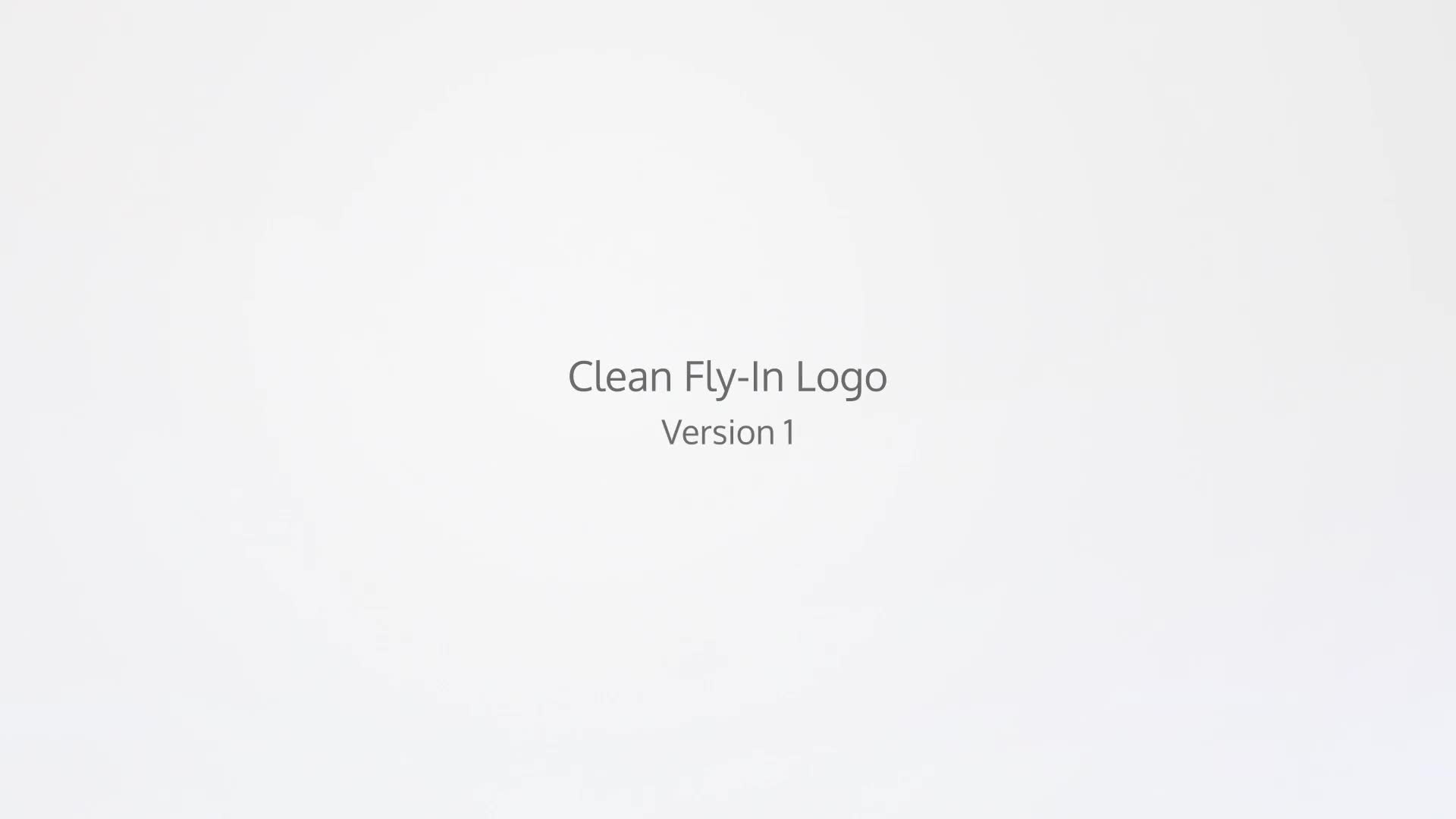Clean Fly In Logo - Download Videohive 12389059