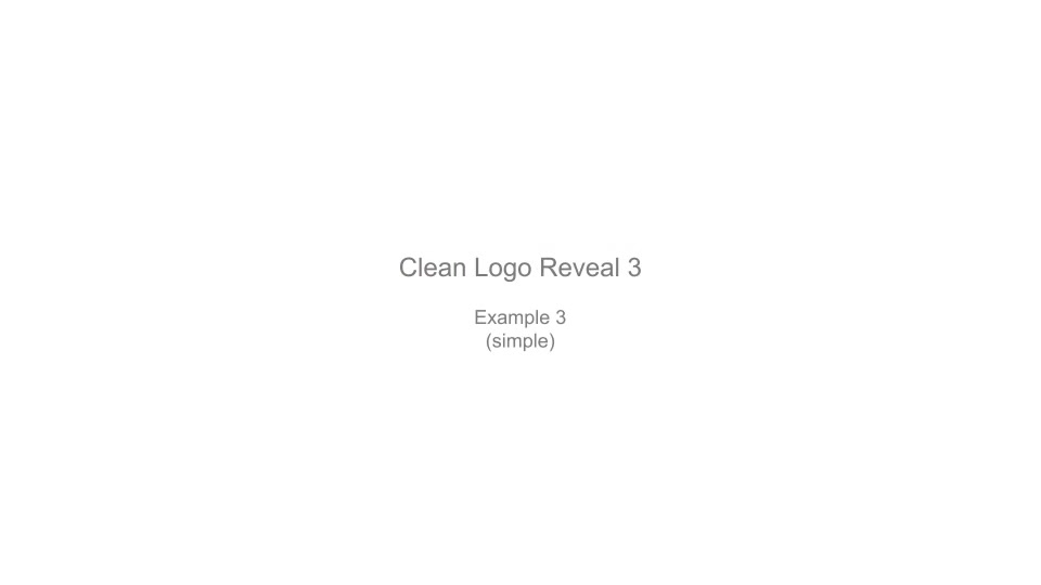 Clean Logo Reveal 3 - Download Videohive 6625848
